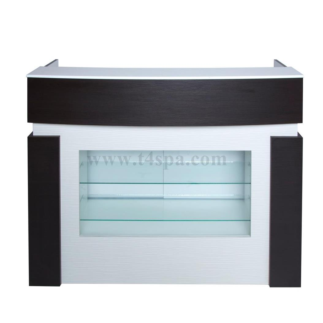 T4spa Flair Reception Desk Glass Seattle Nail Supply