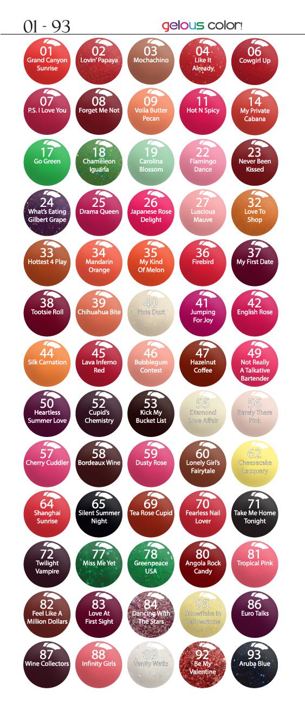 Sns Nail Color Chart Peopledavidjoel
